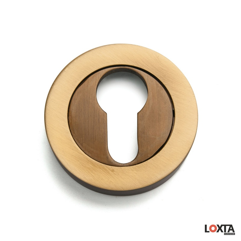 MY70011 2 Part Premium Round Escutcheon, Hot Forged Brass, LK/EU