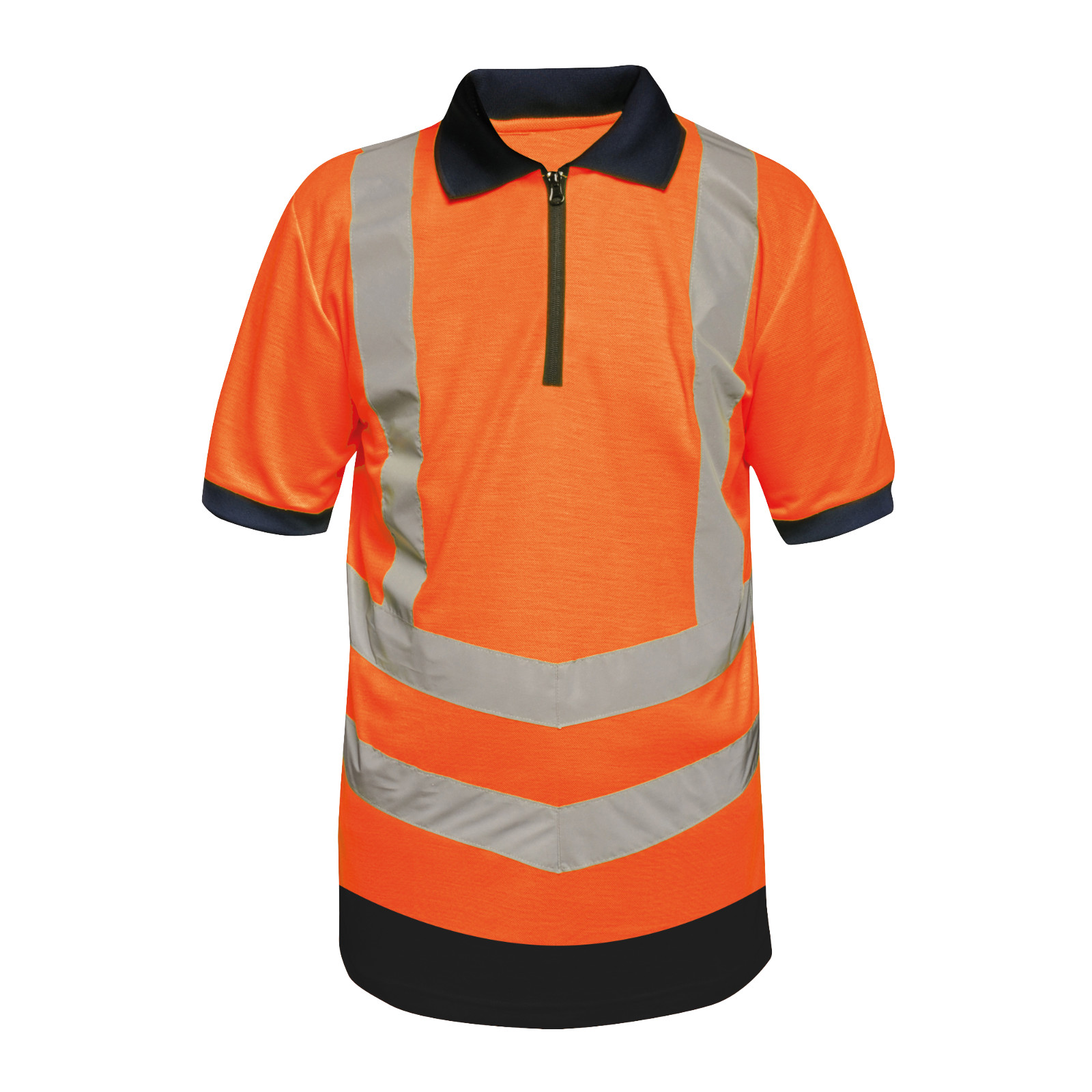 Hi-Vis Pro Wicking Zip Polo Shirt, Tactical Threads