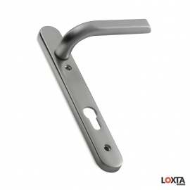 IM10010 Image Multipoint Door Handle, 220mm Long Plate, Unsprung